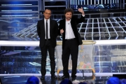 Foto/IPP/Gioia Botteghi 06/12/2013 Roma ultima puntata di Tali e Quali Show, nella foto Carlo Conti e Leonardo Pieraccioni