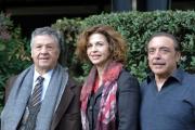 Foto/IPP/Gioia Botteghi 12/12/2013 Roma presentazione della fiction di rai uno CASA E BOTTEGA, nella foto: Nino Frassica, Anna Galiena, Renato Pozzetto