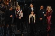 Foto/IPP/Gioia Botteghi 13/12/2013 Roma trasmissione rai per Telethon io esisto con Antonella Clerici Frizzi, Insinna Conti, Venier e la piccola presentatrice non vedente