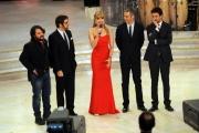 Foto/IPP/Gioia Botteghi 07/12/2013 Roma ultima puntata di Ballando con le stelle, nella foto: Milly Carlucci con Lillo Greg, Paolo Kessisoglu e Luca Bizzarri