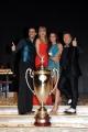 Foto/IPP/Gioia Botteghi 07/12/2013 Roma ultima puntata di Ballando con le stelle, nella foto: i vincitori Elisa Di Francisca e Raimondo Todaro con Milly Carlucci e Paolo Belli