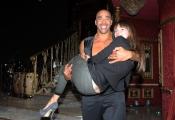 Foto/IPP/Gioia Botteghi 07/12/2013 Roma ultima puntata di Ballando con le stelle, nella foto: Amaurys Perez con la moglie
