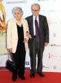 Foto/IPP/Gioia Botteghi Roma14/06/2013 serata Premio David di Donatello, nella foto: Enni Morricone e signora