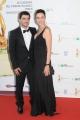 Foto/IPP/Gioia Botteghi Roma14/06/2013 serata Premio David di Donatello, nella foto: Anna Foglietta con marito