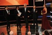 Foto/IPP/Gioia Botteghi Roma14/06/2013 serata Premio David di Donatello, nella foto: Premiazione Piovani e Benigni ritirano il premio di Vinenzo Cerami