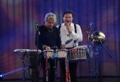 Foto/IPP/Gioia Botteghi 13/09/2014 Roma puntata di Sogno e son desto 2, nella foto: Massimo Ranieri con Tony Esposito