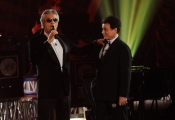 Foto/IPP/Gioia Botteghi 11/01/2014 Roma nuovo programma di rai uno Sogno e son desto, con Massimo Ranieri Andrea Bocelli