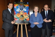 Foto/IPP/Gioia Botteghi 22/01/2014 Roma Annamaria Tarantola e Luigi Gubitosi , Bruno Vespa per i 50 anni Rai