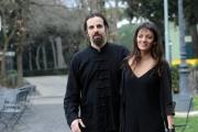 Foto/IPP/Gioia Botteghi 29/01/2014 Roma  presentazione del film IL MISTERO DI DANTE, nella foto Diana dell'Erba con il regista e compagno Luis Nero