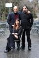 Foto/IPP/Gioia Botteghi 29/01/2014 Roma  presentazione del film IL MISTERO DI DANTE, nella foto Diana dell'Erba con il regista e compagno Luis Nero e Murray Abraham