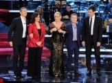 Foto/IPP/Gioia Botteghi 01/02/2014 Roma  Prima puntata di Ti lascio una canzone, nella foto: Antonella Clerici, Frizzi,  Pupo, Cecilia Gasdia, Massimiliano Pani