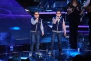 Foto/IPP/Gioia Botteghi 01/02/2014 Roma  Prima puntata di Ti lascio una canzone, nella foto:  Mattia e Francesco Portale