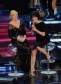 Foto/IPP/Gioia Botteghi 01/02/2014 Roma  Prima puntata di Ti lascio una canzone, nella foto: Antonella Clerici con Giorgia