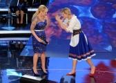 Foto/IPP/Gioia Botteghi 13/02/2014 Roma terza puntata di Ti lascio una canzone,nella foto Antonella Clerici e Michelle Hunziker