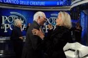 Foto/IPP/Gioia Botteghi 04/02/2014 Roma  puntata di porta a porta sui 60 anni della televisione, nella foto: Angelo Guglielmi e Gabriella Farinon