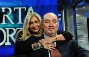 Foto/IPP/Gioia Botteghi 04/02/2014 Roma  puntata di porta a porta sui 60 anni della televisione, nella foto: Mara Venier e Giampiero Galeazzi