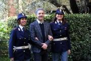 Foto/IPP/Gioia Botteghi 07/02/2014 Roma  presentazione della fiction di rai uno L'oro di Scampia, nella foto Giuseppe Fiorello con 2 vere poliziotte ospiti della conferenza stampa