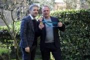 Foto/IPP/Gioia Botteghi 07/02/2014 Roma  presentazione della fiction di rai uno L'oro di Scampia, nella foto Giuseppe Fiorello con Giovanni Maddaloni