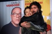 Foto/IPP/Gioia Botteghi 11/02/2014 Roma  presentazione del film SOTTO UNA BUONA STELLA, nella foto:  Tea Falco, Lorenzo Richelmy