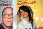 Foto/IPP/Gioia Botteghi 11/02/2014 Roma  presentazione del film SOTTO UNA BUONA STELLA, nella foto:  Eleonora Sergio