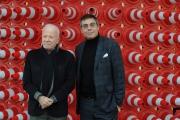 Foto/IPP/Gioia Botteghi 12/02/2014 Roma  presentazione delprogramma di rai tre FUORI QUADRO, nella foto  il direttore di rai tre Andrea Vianello e il conduttore del programma Achille Bonito Oliva