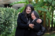 Foto/IPP/Gioia Botteghi 13/02/2014 Roma  presentazione del docu-fiction di rai tre Hotel 6 stelle, nella foto: Martina e tutor Debora
