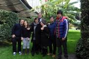 Foto/IPP/Gioia Botteghi 13/02/2014 Roma  presentazione del docu-fiction di rai tre Hotel 6 stelle, nella foto:  i sei ragazzi con il direttore di rai tre Andrea Vianello