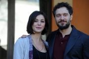 Foto/IPP/Gioia Botteghi 14/02/2014 Roma  presentazione della fiction Non è mai troppo tardi, nella foto Nicole Grimaudo e Claudio Santamaria