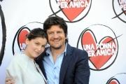 Foto/IPP/Gioia Botteghi 24/02/2014 Roma presentazione del film UNA DONNA PER AMICA, nella foto Laetitia Casta e Fabio De Luigi