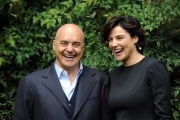 Foto/IPP/Gioia Botteghi 26/02/2014 Roma  presentazione della fiction di raiuno Il giudice meschino, nella foto Luisa Ranieri e Luca Zingaretti