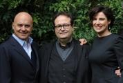 Foto/IPP/Gioia Botteghi 26/02/2014 Roma  presentazione della fiction di raiuno Il giudice meschino, nella foto Luisa Ranieri e Luca Zingaretti ed il regista Carlei