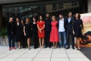 Foto/IPP/Gioia Botteghi 27/02/2014 Roma  presentazione del film Allacciate le cinture, nella foto: FERZAN OZPETEK con      KASIA SMUTNIAK, FRANCESCO ARCA, FILIPPO SCICCHITANO,CAROLINA CRESCENTINI, FRANCESCO SCIANNA, ELENA SOFIA RICCI, CARLA SIGNORIS,PAOLA MINACCIONI, LUISA RANIERI, GIULIA MICHELINI