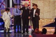 Foto/IPP/Gioia Botteghi 28/02/2014 Roma  prima puntata della trasmissione di rai uno il meglio d_Italia, nella foto Enrico Brignano e Pippo Baudo