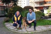 Foto/IPP/Gioia Botteghi 03/03/2014 Roma  Francesco Arca con Rex ospite di Magalli a i fatti vostri nella foto con Massimo Perla istruttore canino
