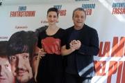 Foto/IPP/Gioia Botteghi 05/03/2014 Roma  Presentazione del film La mossa del pinguino, nella foto Claudio Amendola e Francesca Inaudi