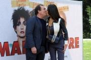 Foto/IPP/Gioia Botteghi 10/03/2014 Roma Presentazione del film Maldamore, nella foto Mariagrazia Cucinotta con il marito ( produttori del film)