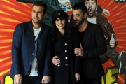 Foto/IPP/Gioia Botteghi 18/03/2014 Roma presentazione del film Amici come noi, nella foto:  Pio D'Antini, Amedeo Grieco, Alessandra Mastronardi