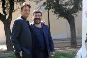 Foto/IPP/Gioia Botteghi 01/04/2014 Roma presentazione del film IL PRETORE, nella foto:  Francesco Pannofino con Giulio Base
