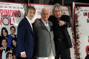 Foto/IPP/Gioia Botteghi 08/04/2014 Roma presentazione del film UN MATRIMONIO DA FAVOLA, nella foto:   C. Vanzina + E. Vanzina +  F. Lucisano