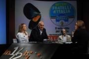Foto/IPP/Gioia Botteghi 13/04/2014 Roma Giorgia Meloni e Guido Crosetto ospite di Lucia Annunziata