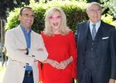Foto/IPP/Gioia Botteghi 24/04/2014 Roma presentazione del programma di rai uno SI PUO' FARE, nella foto Carlo Conti e la giuria Lear e Baudo