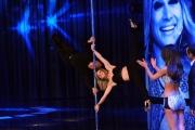 Foto/IPP/Gioia Botteghi 09/05/2014 Roma Puntata della trasmissione SI PUO FARE, nella foto  Chechi con l'insegnante di pole dance Sara Brilli