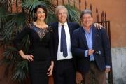 Foto/IPP/Gioia Botteghi 05/05/2014 Roma presentazione del film LA MOGLIE DEL SARTO, nella foto: Maria Grazia Cucinotta e Tony Sperandeo con il regista Massimo Scaglione