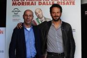 Foto/IPP/Gioia Botteghi 09/05/2014 Roma presentazione del film Pinuccio Lovero, nella foto nella foto il regista  Pippo Mezzapesa e Pinuccio Lovero