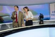 Foto/IPP/Gioia Botteghi   23/05/2014 Roma Bianca Berlinguer presenta il suo nuono tg3 con il direttore generale Gubitosi