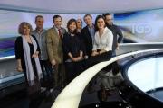 Foto/IPP/Gioia Botteghi   23/05/2014 Roma Bianca Berlinguer presenta il suo nuono tg3 con il direttore generale Gubitosi ed i tecnici che hanno creato il nuovo tg digitale