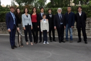 Foto/IPP/Gioia Botteghi 28/05/2014 Roma presentazione della fiction di rai uno A TESTA ALTA, nella scuola ufficiali dei carabinieri, nella foto: il cast più bimbo Filippo Agnelli