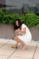 Foto/IPP/Gioia Botteghi 28/05/2014 Roma presentazione del film Pane e Burlesque, nella foto: Giovanna Rei, cade la collana durante il photocall