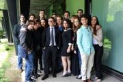 Foto/IPP/Gioia Botteghi 30/05/2014 Roma presentazione  del programma di rai tre Colpo di scena , otto puntate condotte da Pino Strabioli, con lui i ragazzi della scuola d'arte drammatica Silvio D'Amico