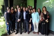 Foto/IPP/Gioia Botteghi 30/05/2014 Roma presentazione  del programma di rai tre Colpo di scena , otto puntate condotte da Pino Strabioli,  con Andrea Vianello ed i ragazzi della scuola d'arte drammatica Silvio D'Amico